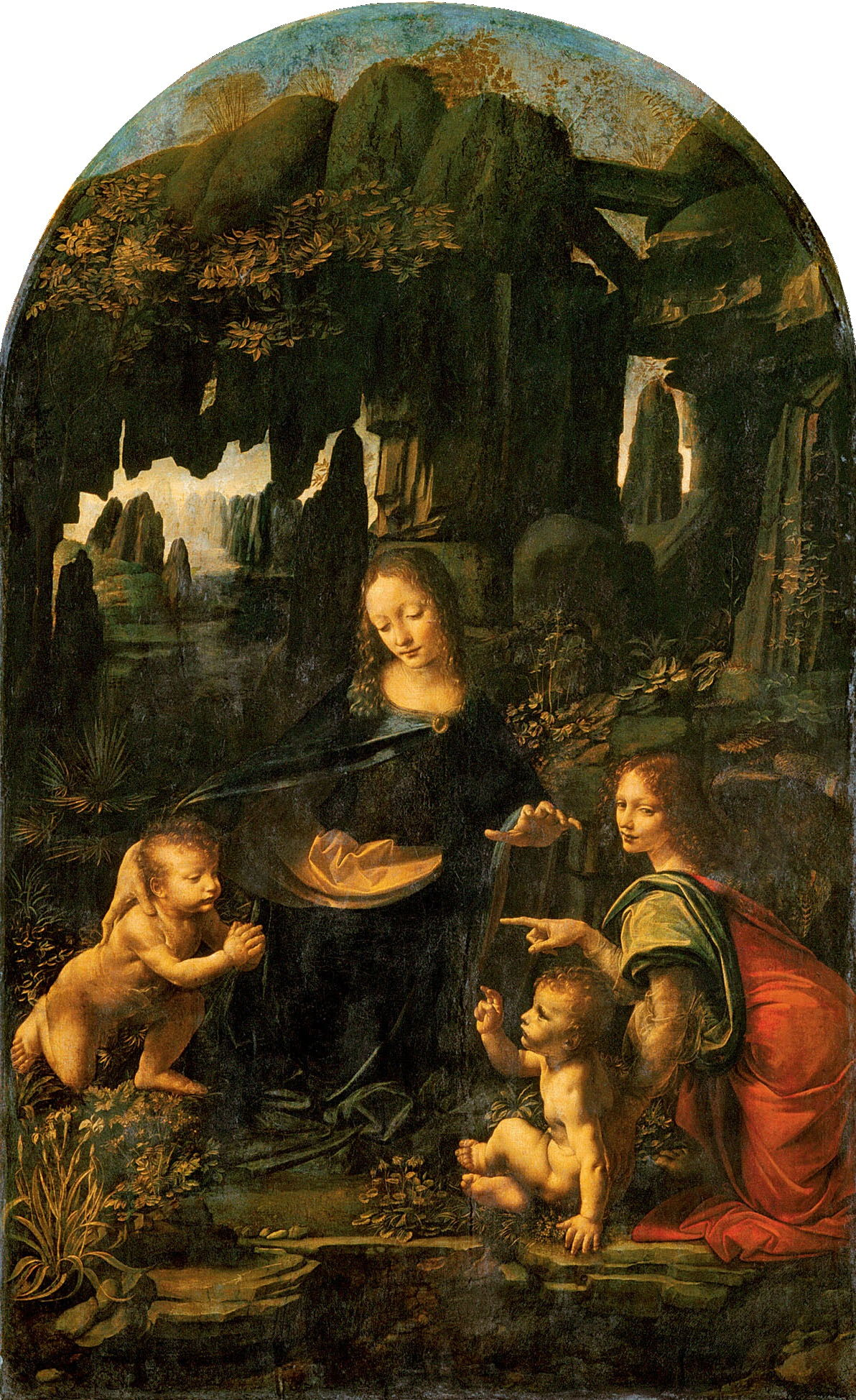 Virgin of the Rocks by Leonardo da Vinci (Louvre version)