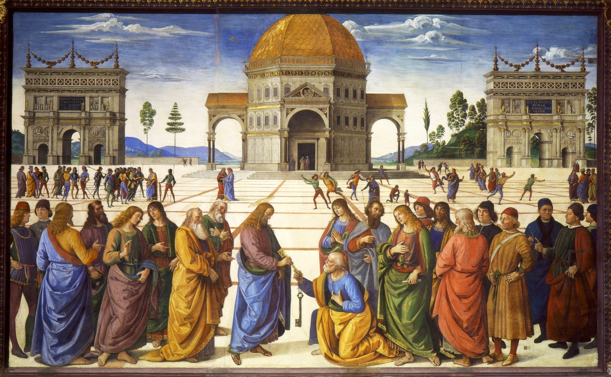 Delivery of the Keys by Pietro Perugino