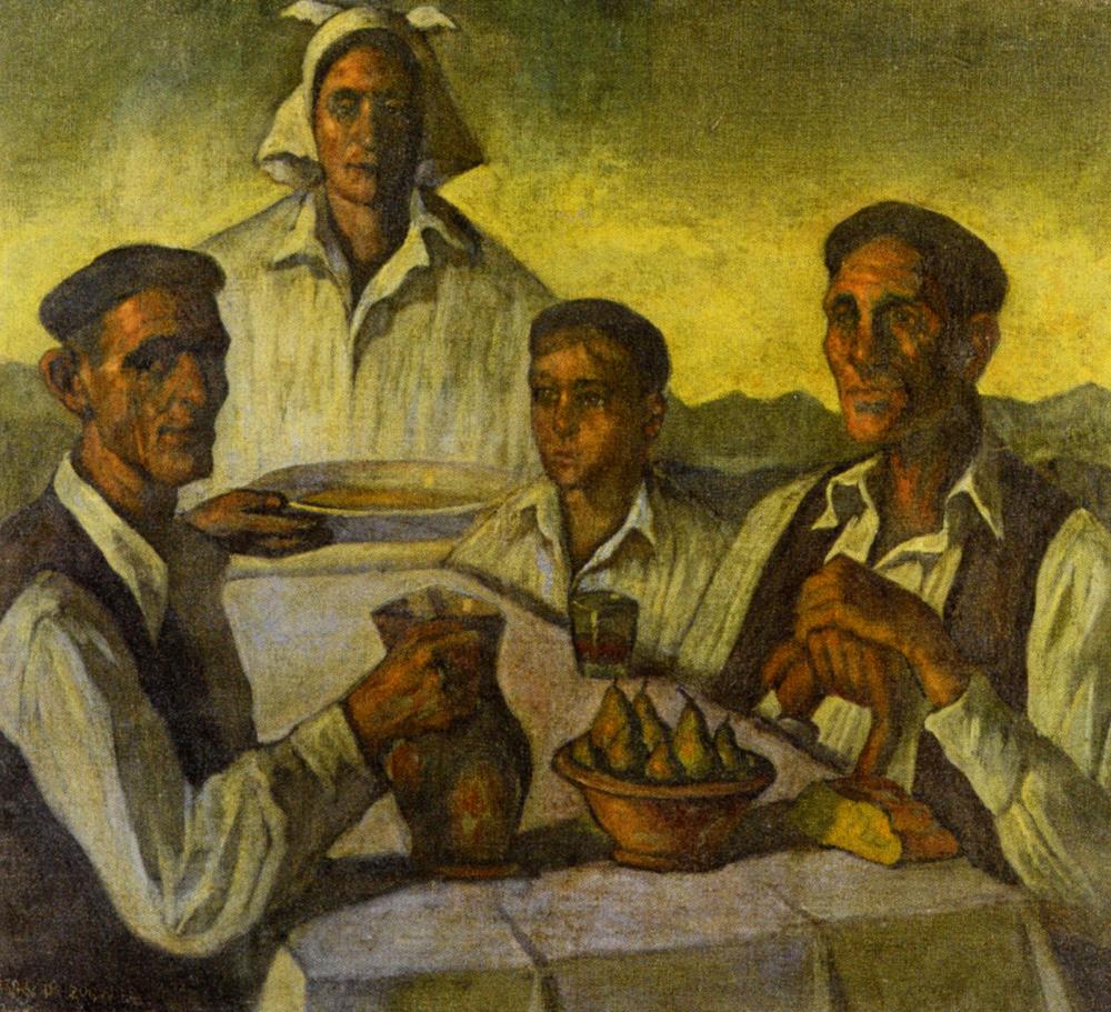Peasants by Valentin de Zubiaurre