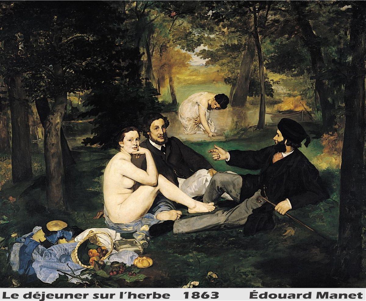 Le déjeuner sur l'herbe by Edouard Manet