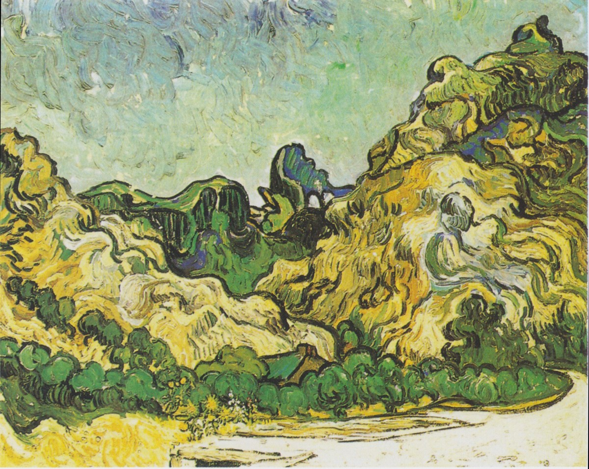 Mountains at Saint Remy by Vincent van Gogh-Oil Painting