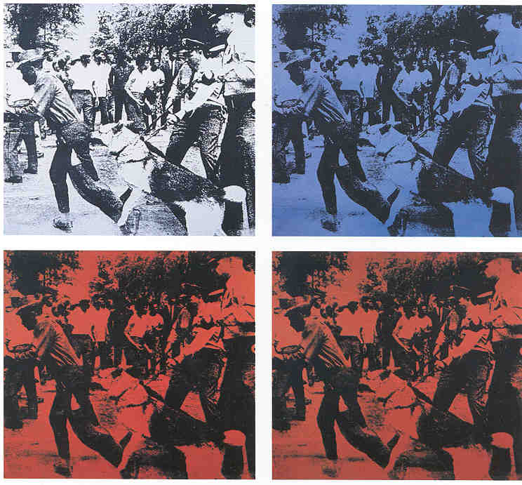 Race Riots by Andy Warhol