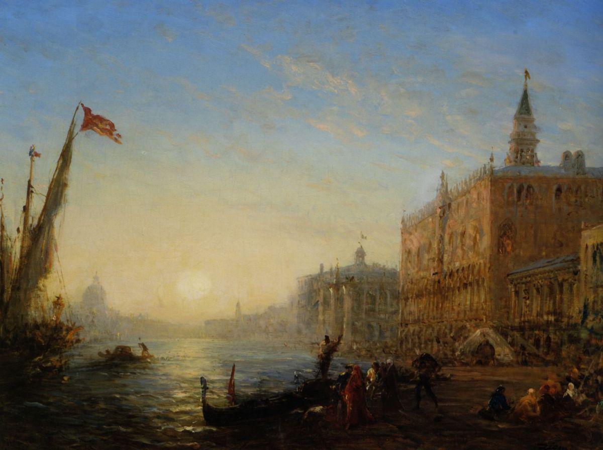 Sur le quai des Esclavons Venise by Felix Ziem