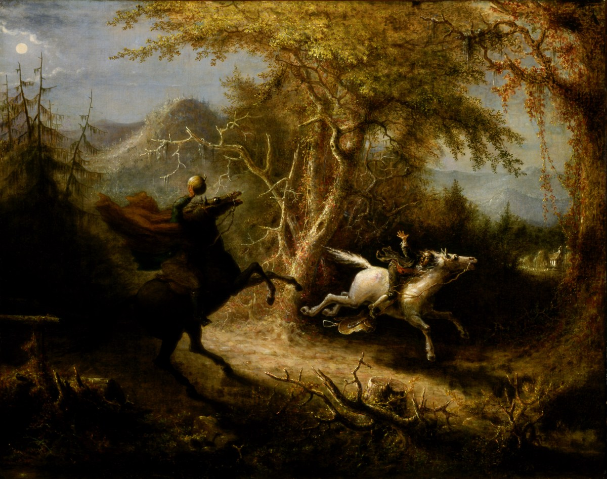 The Headless Horseman Pursuing Ichabod Crane by John Quidor_mini
