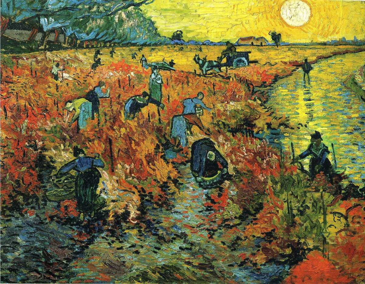 The Red Vineyard by Vincent van Gogh-Oil Painting