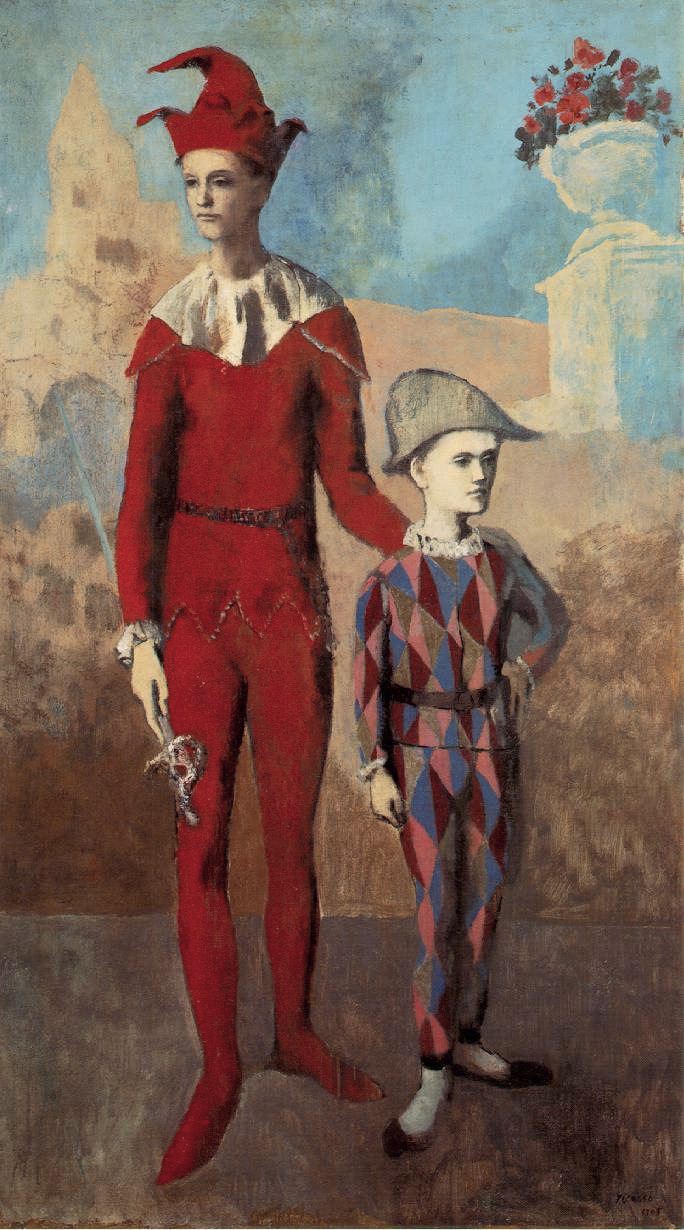 Acrobate et jeune arlequin (Acrobat and Young Harlequin) by Pablo Picasso