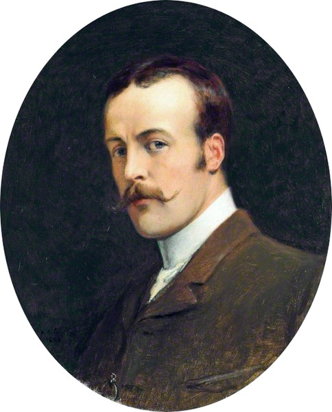 Self-portrait by Andrew Carrick Gow-Portrait Painting