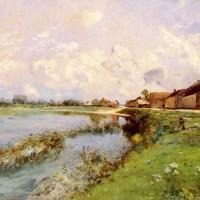 Paysage De Riviere by Edmond Charles Joseph Yon