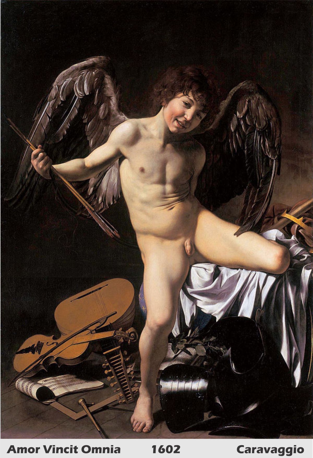 Amor Vincit Omnia by Caravaggio- History Painting