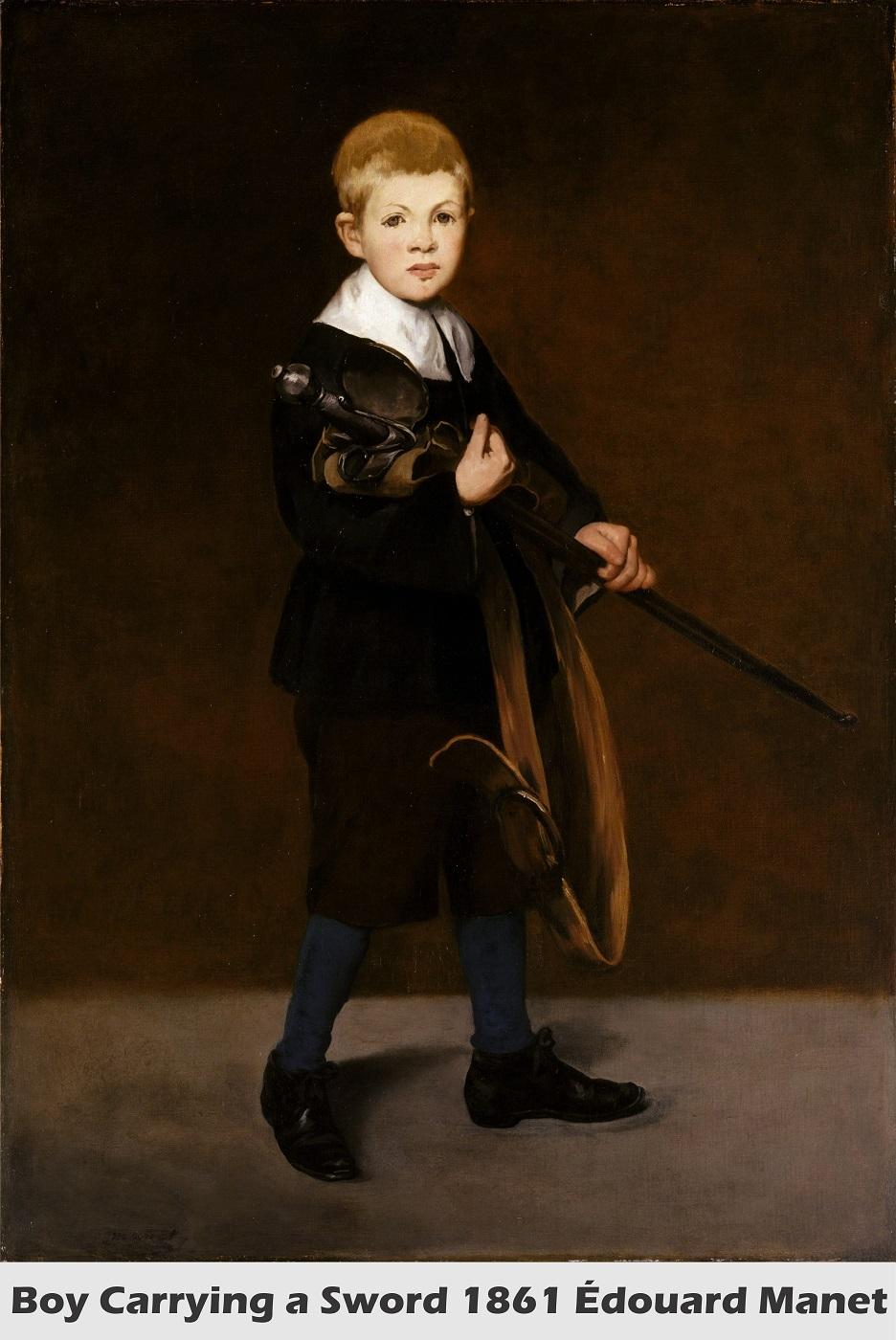 Boy Carrying a Sword by Édouard Manet