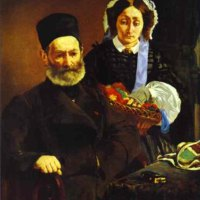 Portrait of M. and Mme Auguste Manet by Édouard Manet