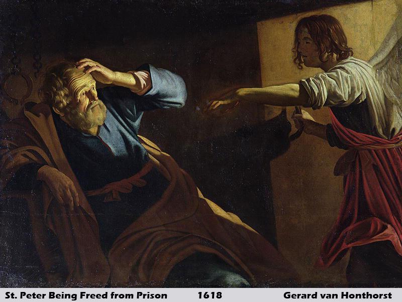 St Peter Released from Prison by Gerrit van Honthorst