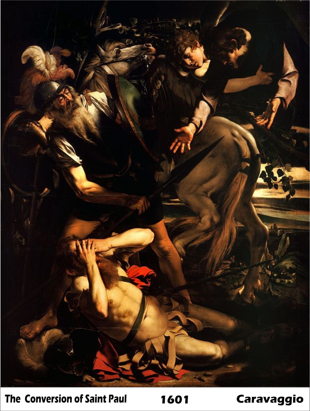 The Conversion of Saint Paul by Caravaggio-History Painting