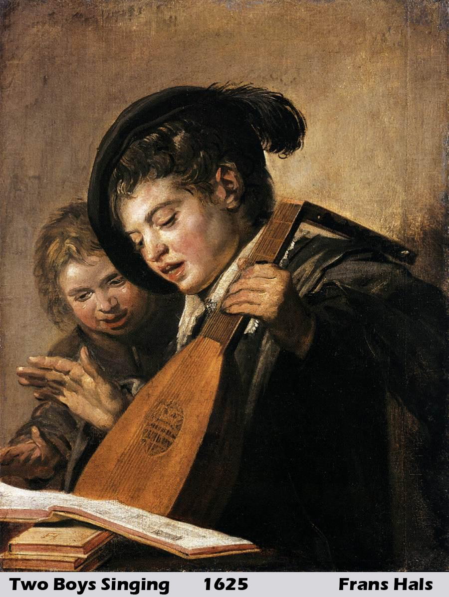 Two Boys Singing by Frans Hals