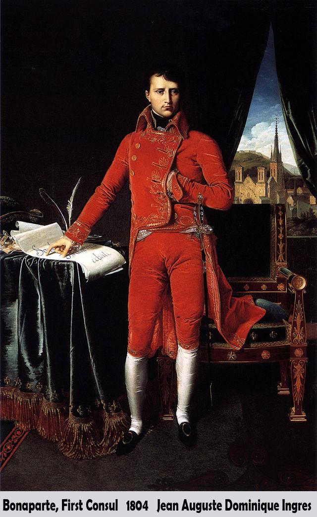 Bonaparte, First Consul by Jean Auguste Dominique Ingres-Portrait Painting