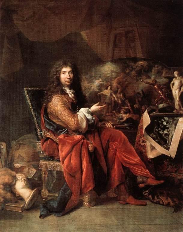 Charles Le Brun portrait by Nicolas de Largilliere