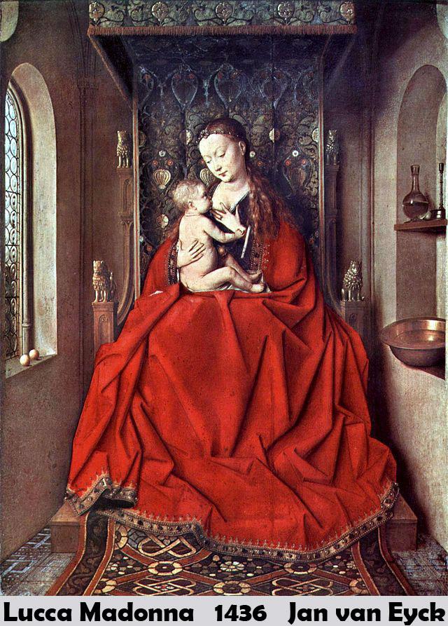 Lucca Madonna by jan van eyck-History Painting