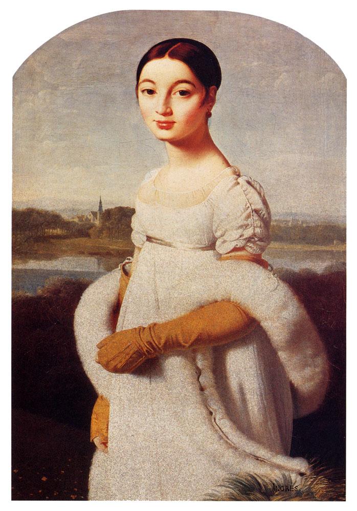 Mademoiselle Caroline Rivière by Jean Auguste Dominique Ingres