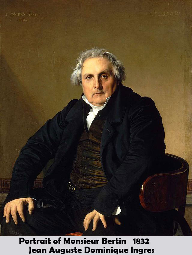 Portrait of Monsieur Bertin by Jean Auguste Dominique Ingres-Portrait Painting