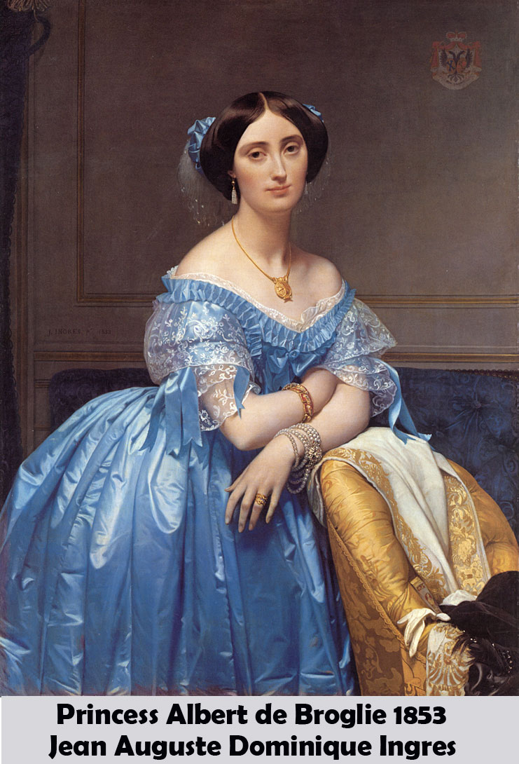Princess Albert de Broglie by Jean Auguste Dominique Ingres-Oil Painting