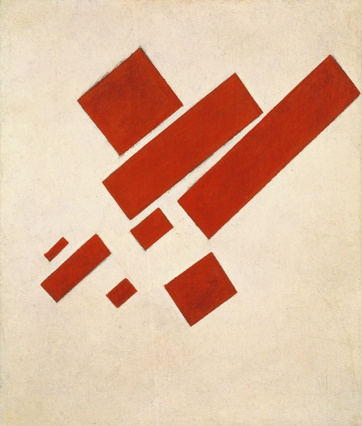 Suprematist Painting Eight Red Rectangles by Kazimir Malevich