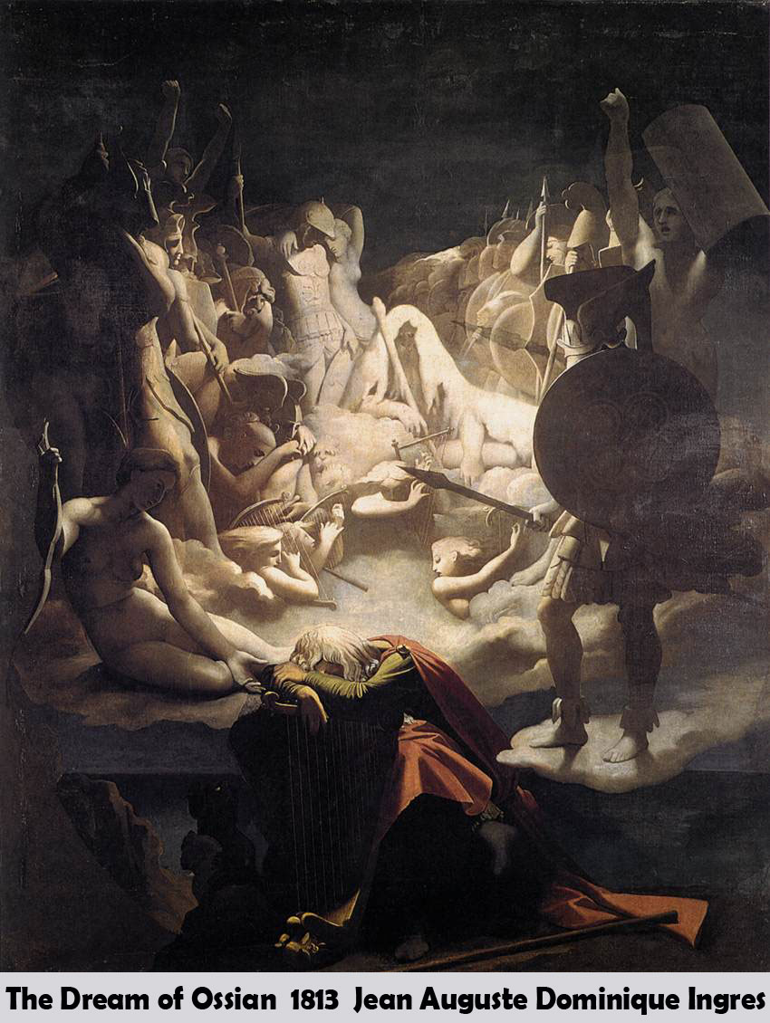 The Dream of Ossian by Jean Auguste Dominique Ingres
