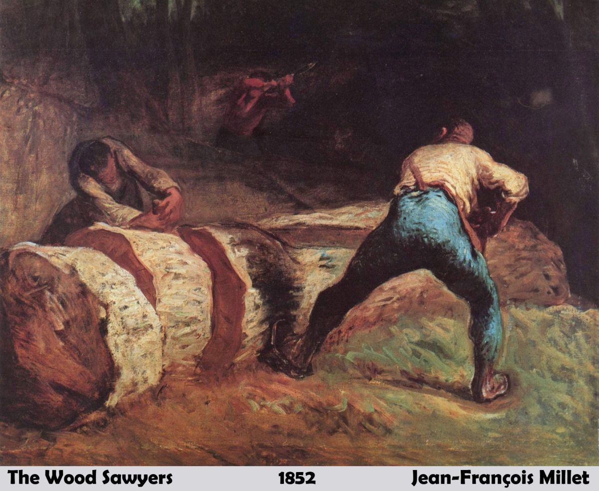 The Wood Sawyers by Jean Francois Millet