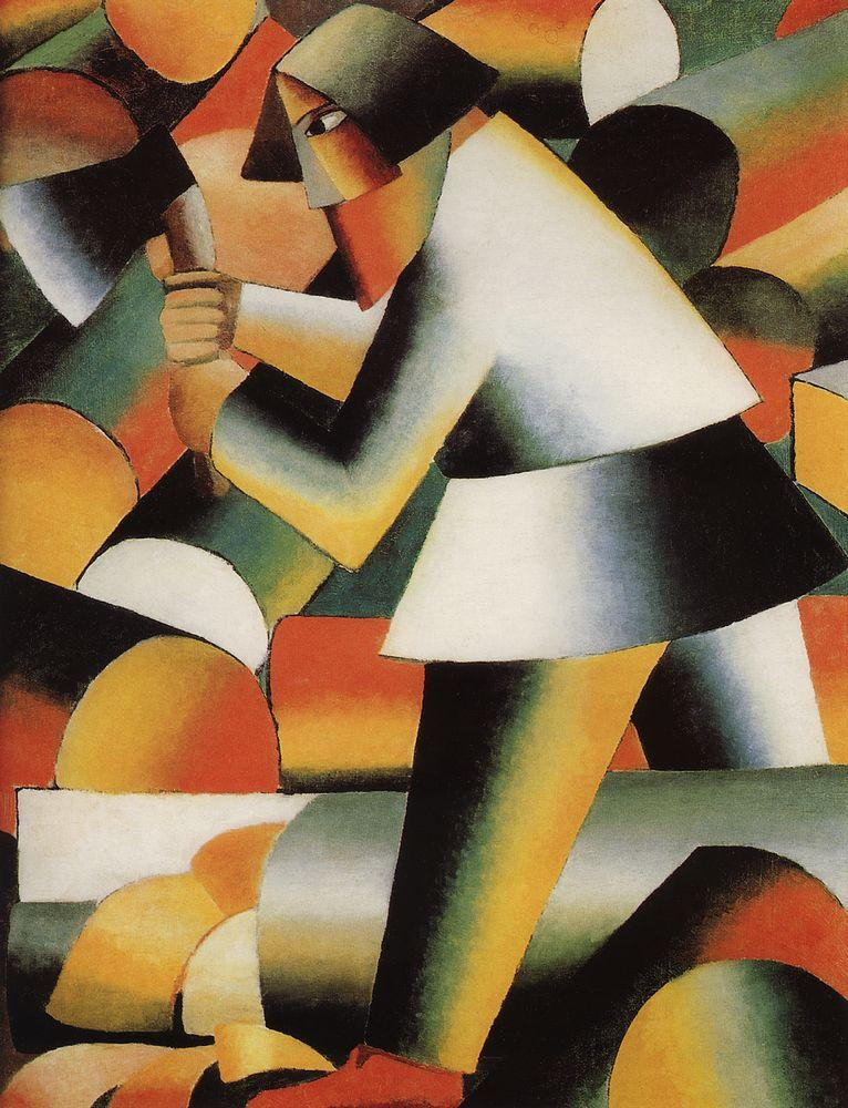 The Woodcutter by Kazimir Malevich