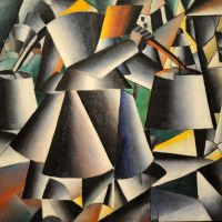 Woman with Pails: Dynamic Arrangement by Kazimir Malevich