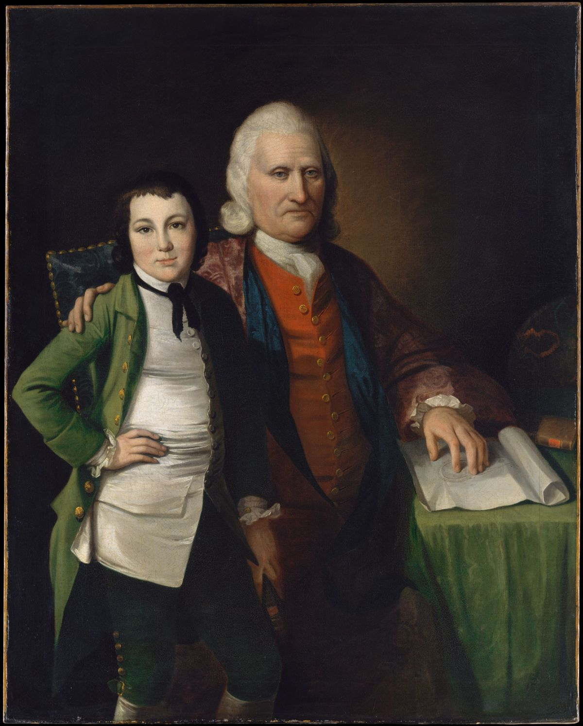 Cadwallader Colden and His Grandson Warren De Lancey by Matthew Pratt