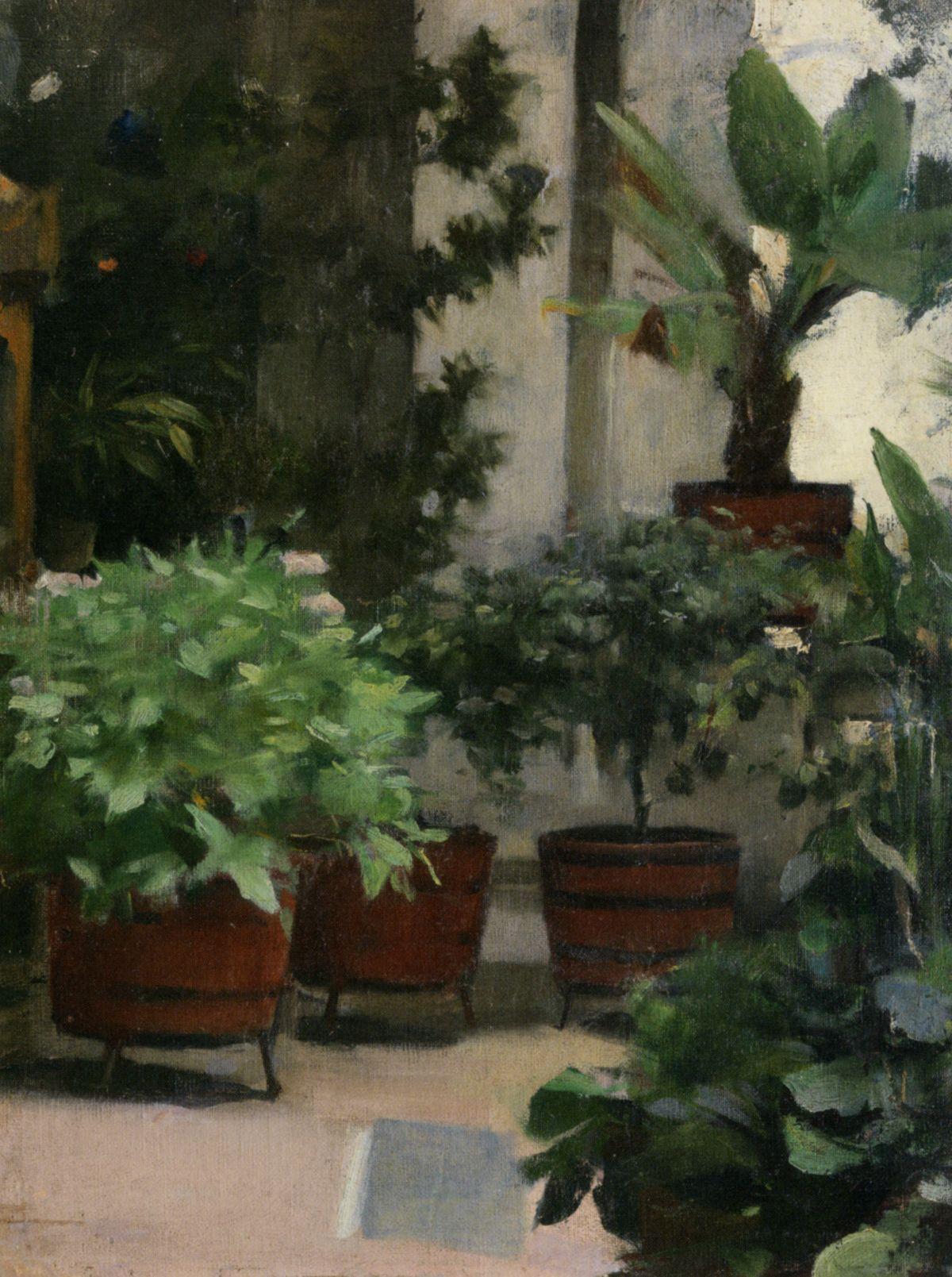 Corner of my Garden by Ramon Casas