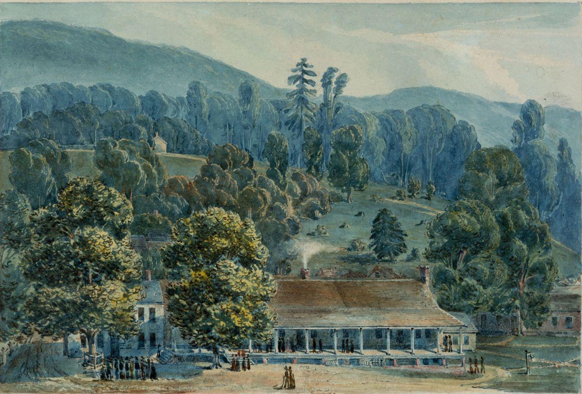 Dining Room and Stage Offices at White Sulphur Springs by John Hazelhurst Boneval Latrobe