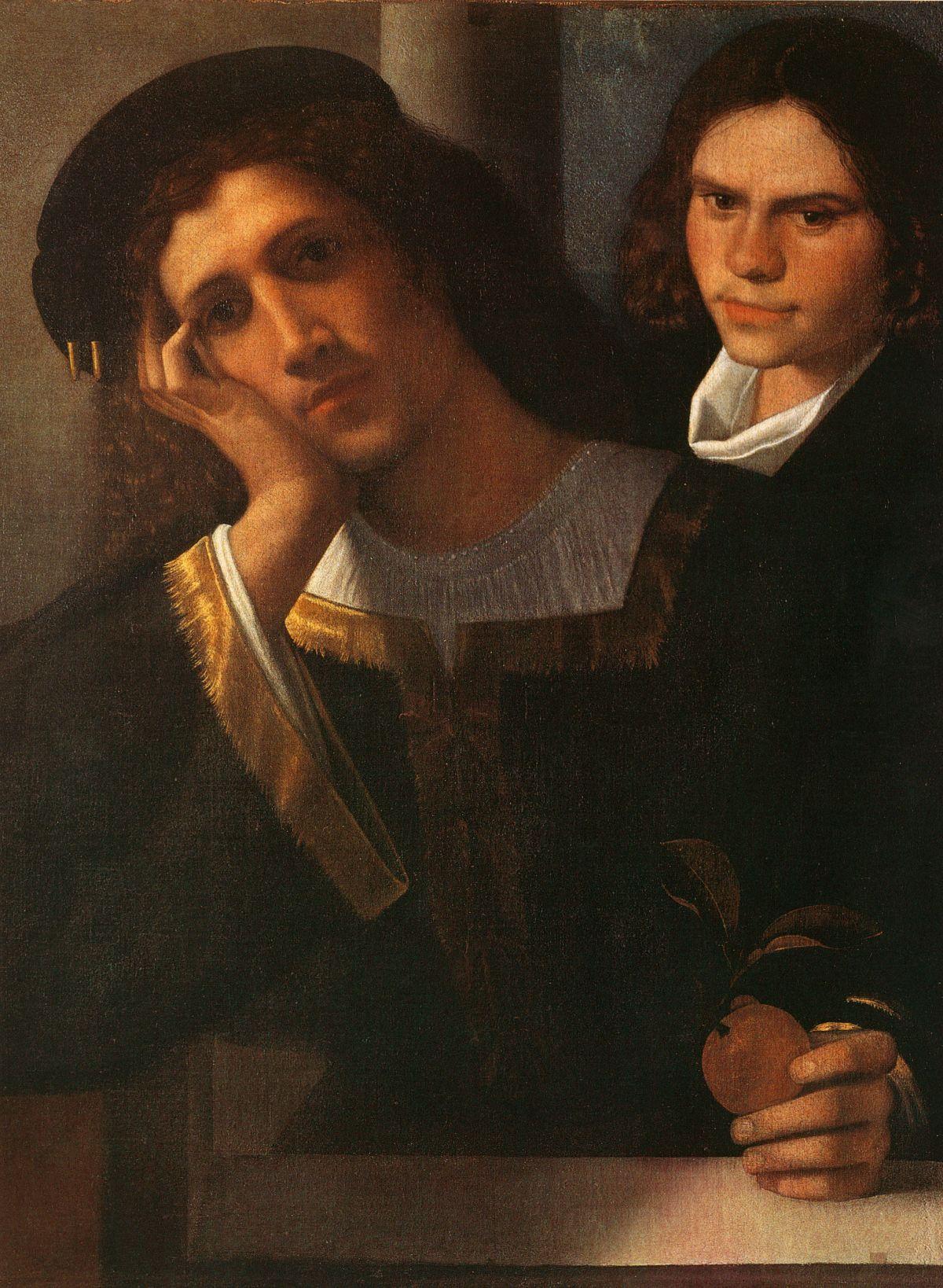 Double Portrait attributed to Giorgione by Giorgione