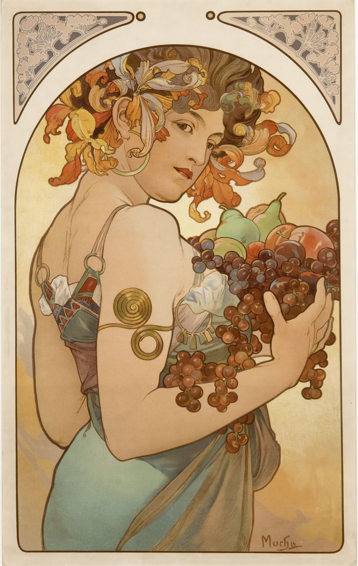 Fruit by Alphonse Maria Mucha