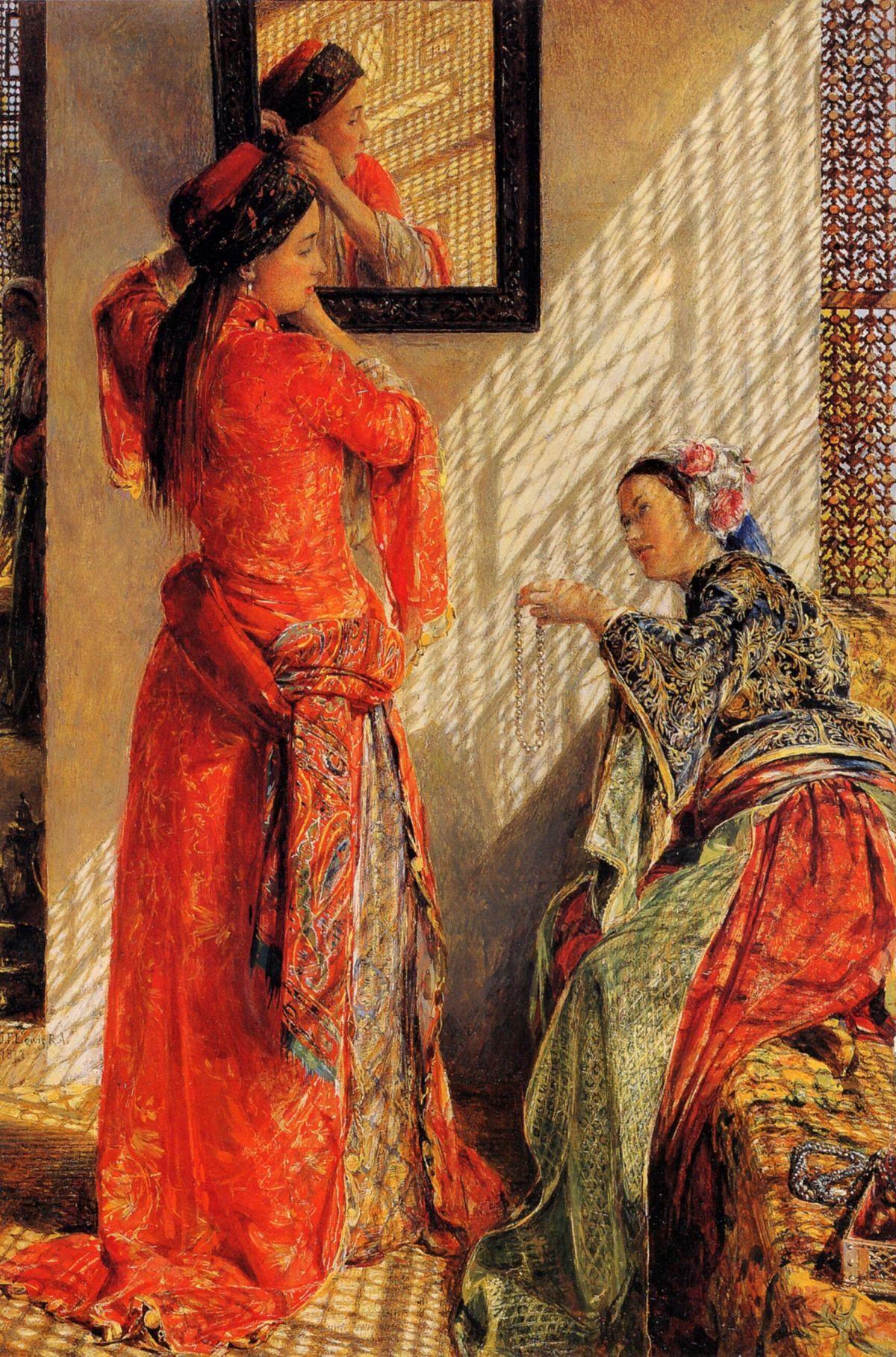 Indoor Gossip Cairo by John Frederick Lewis