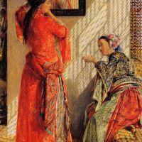 Indoor Gossip, Cairo by John Frederick Lewis