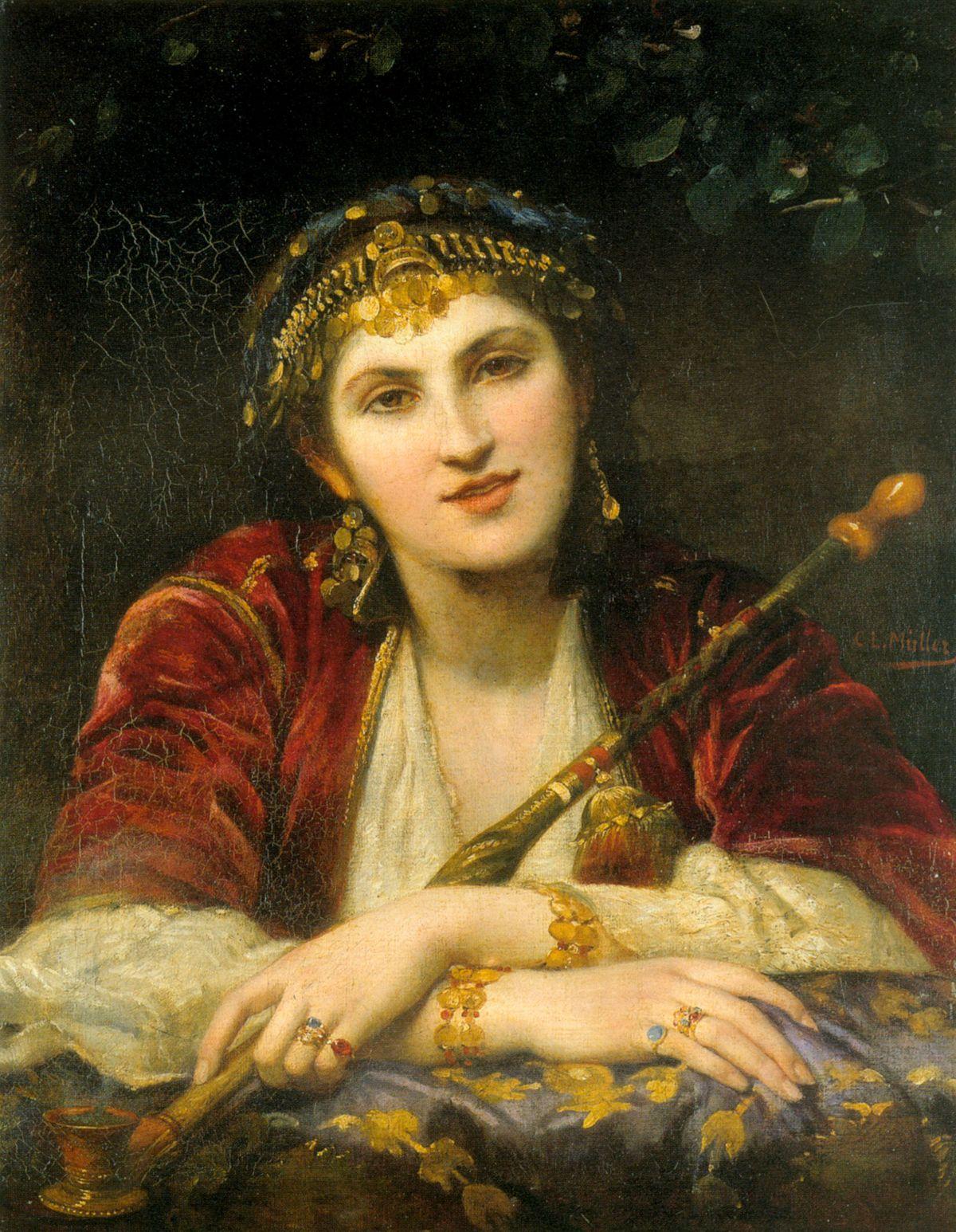 La belle orientale by Charles Louis Lucien Muller