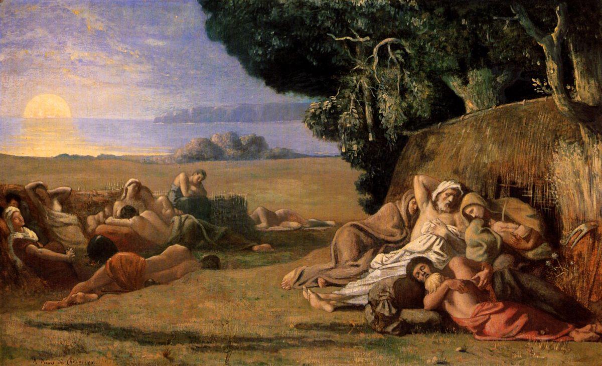 Le Sommeil by Pierre Cecile Puvis de Chavannes
