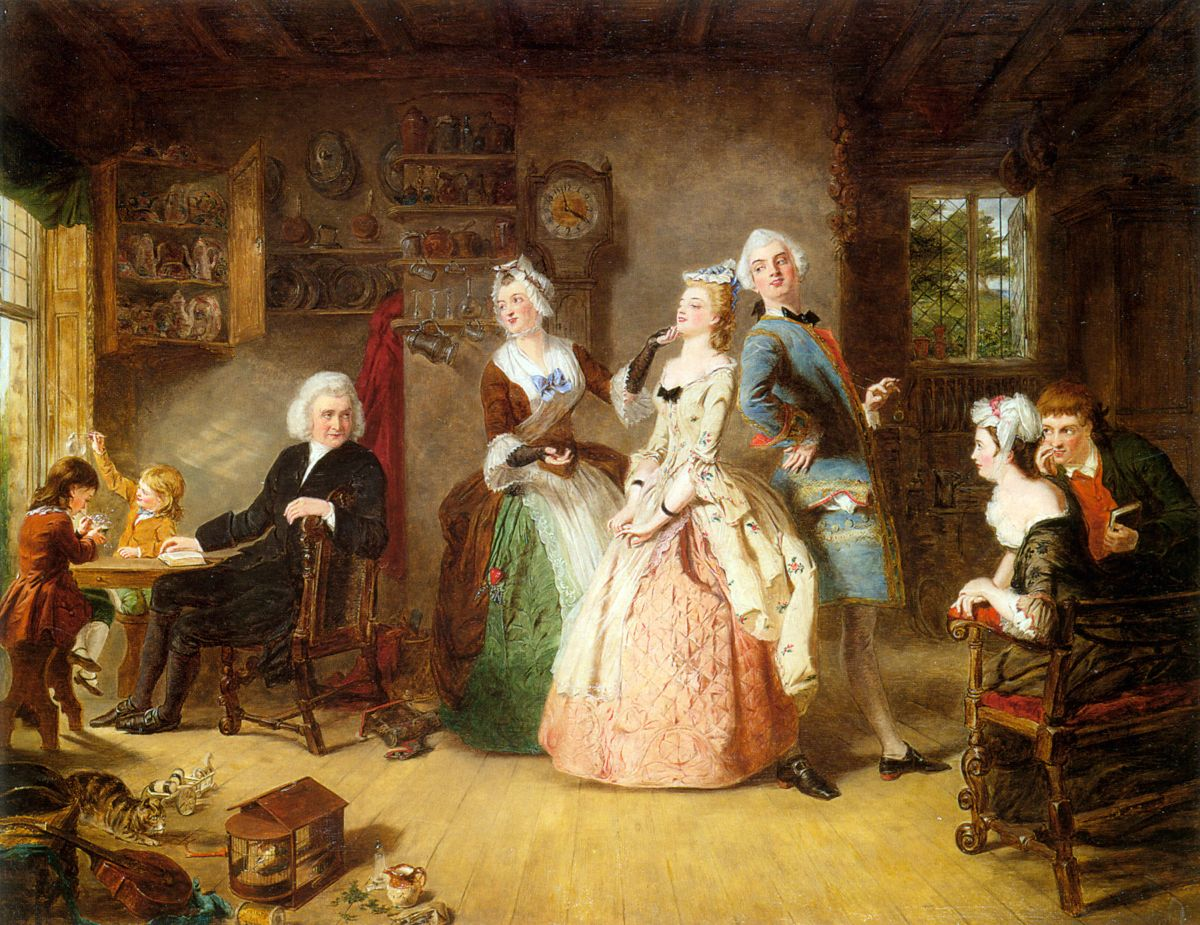 Measuring Heights by William Powell Frith