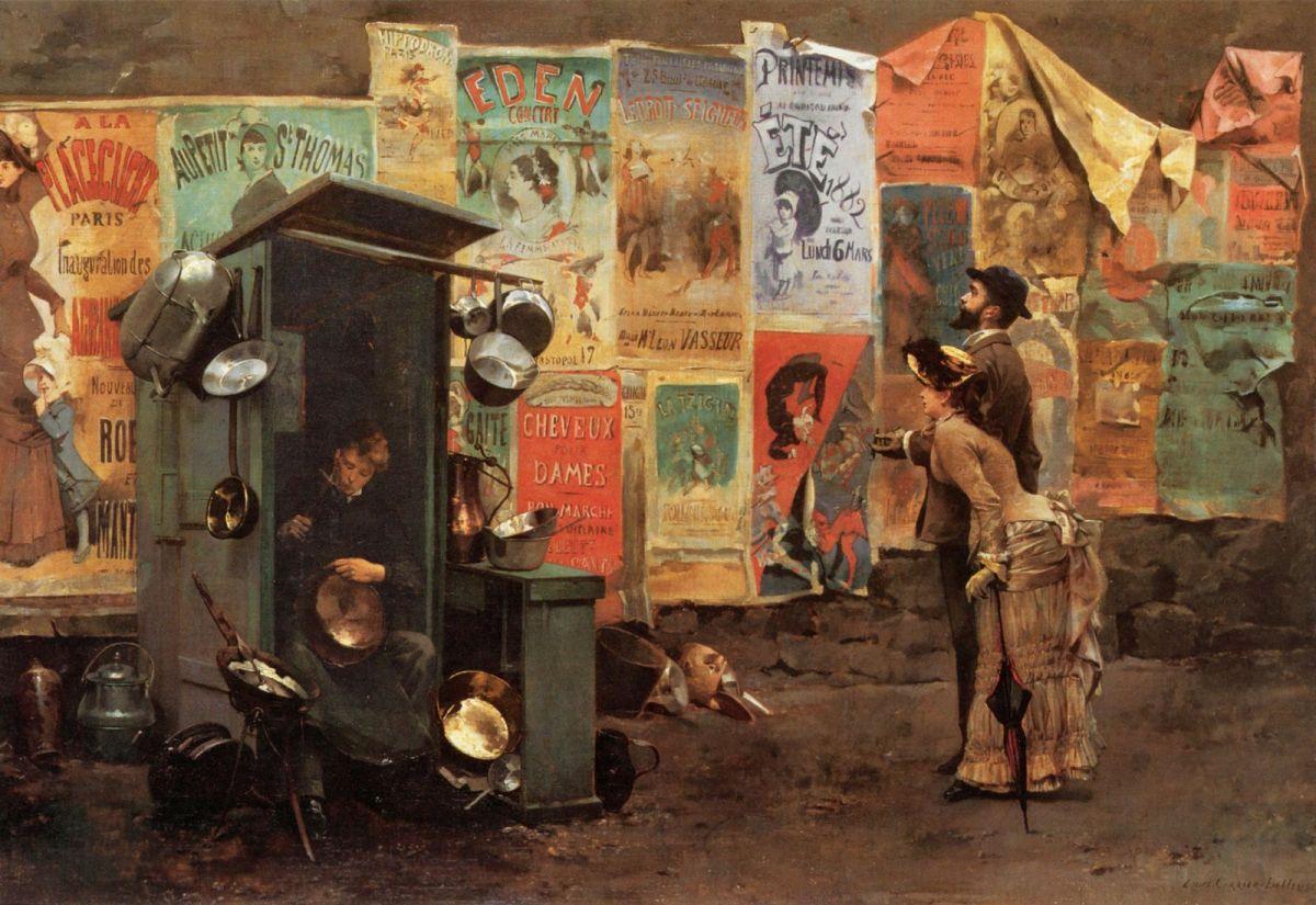 Mending the Pots by Louis Robert Carrier Belleuse