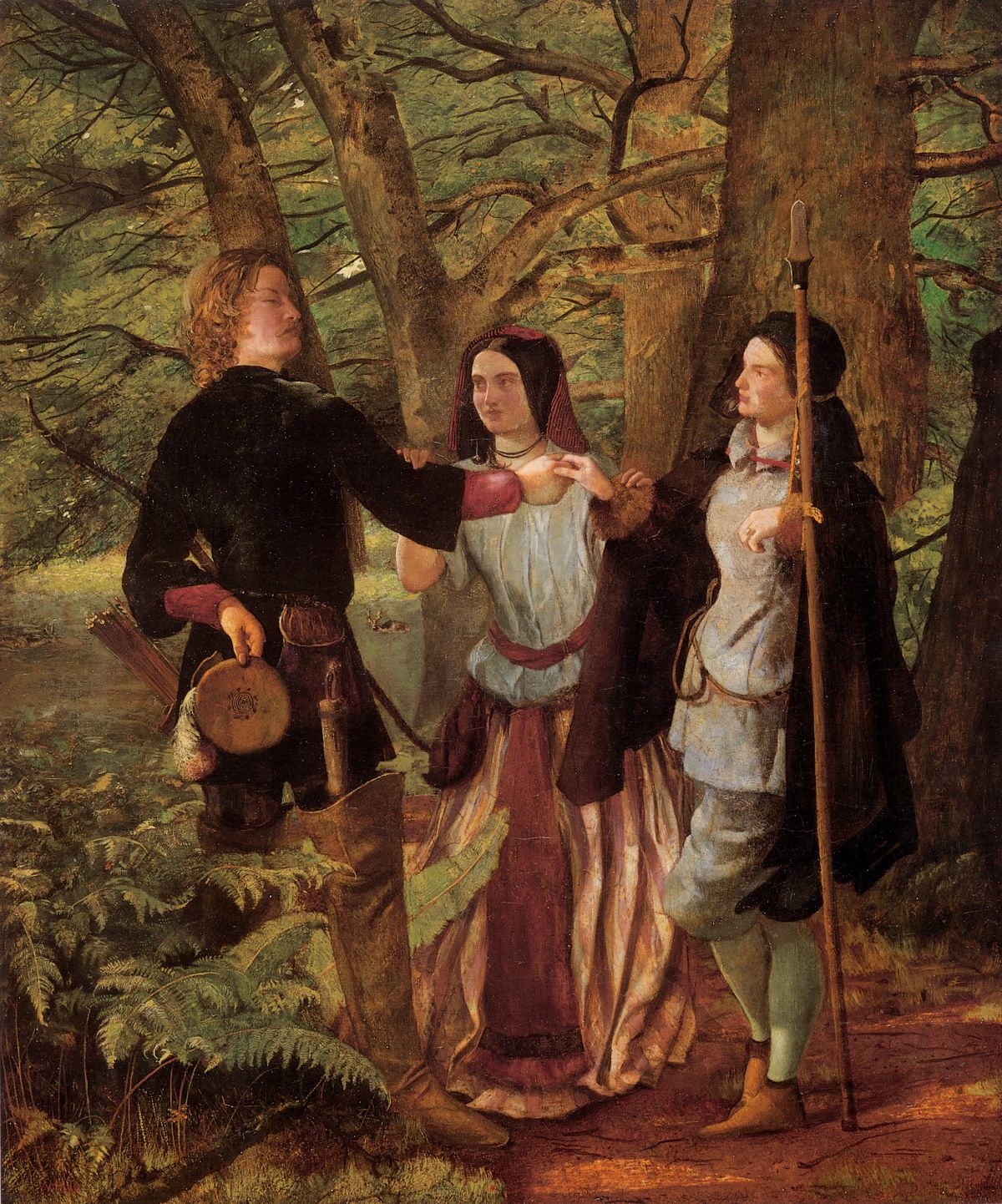 A Scene from As You Like It by Walter Howell Deverell
