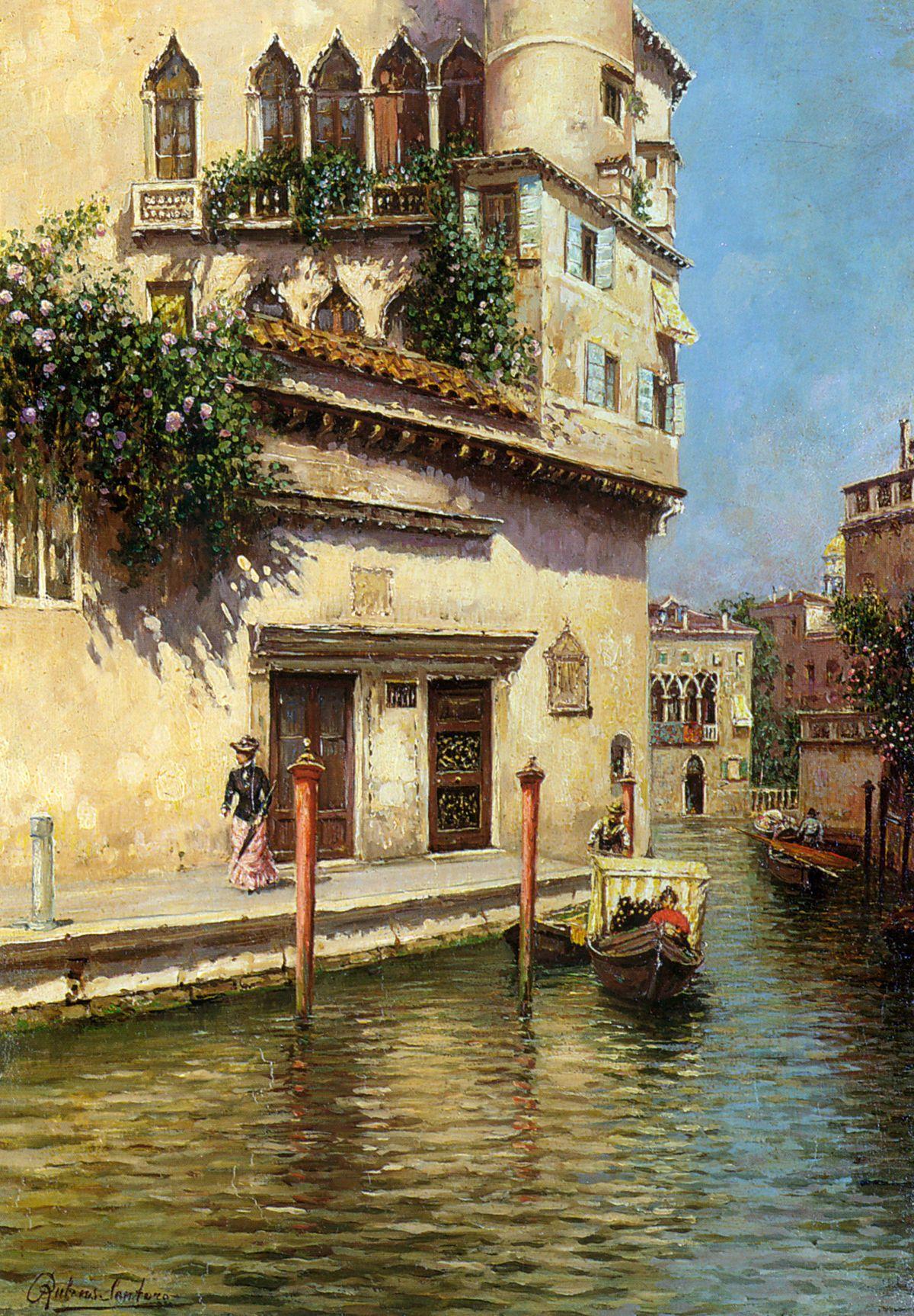 A Venetian Backwater by Rubens Santoro