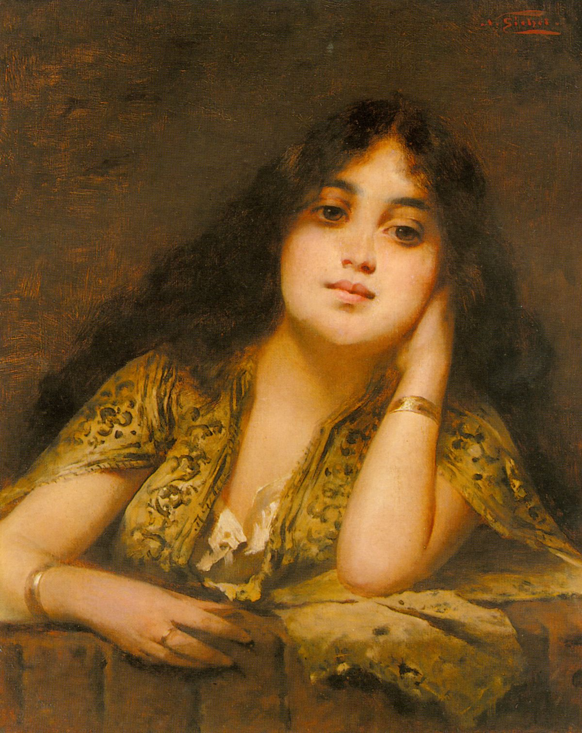A Young Oriental Beauty by Nathaniel Sichel