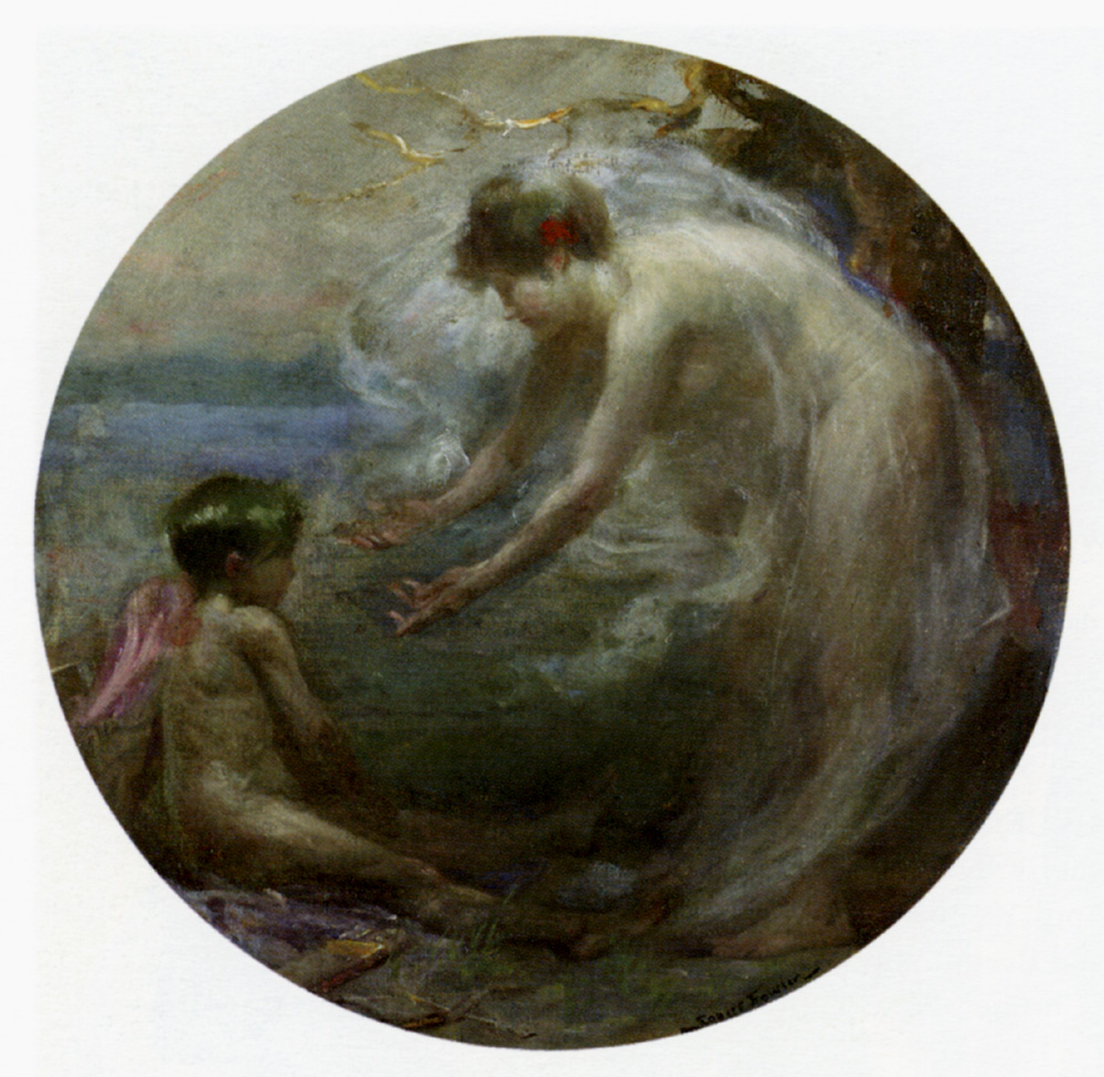 Venus And Cupid by Robert Fowler