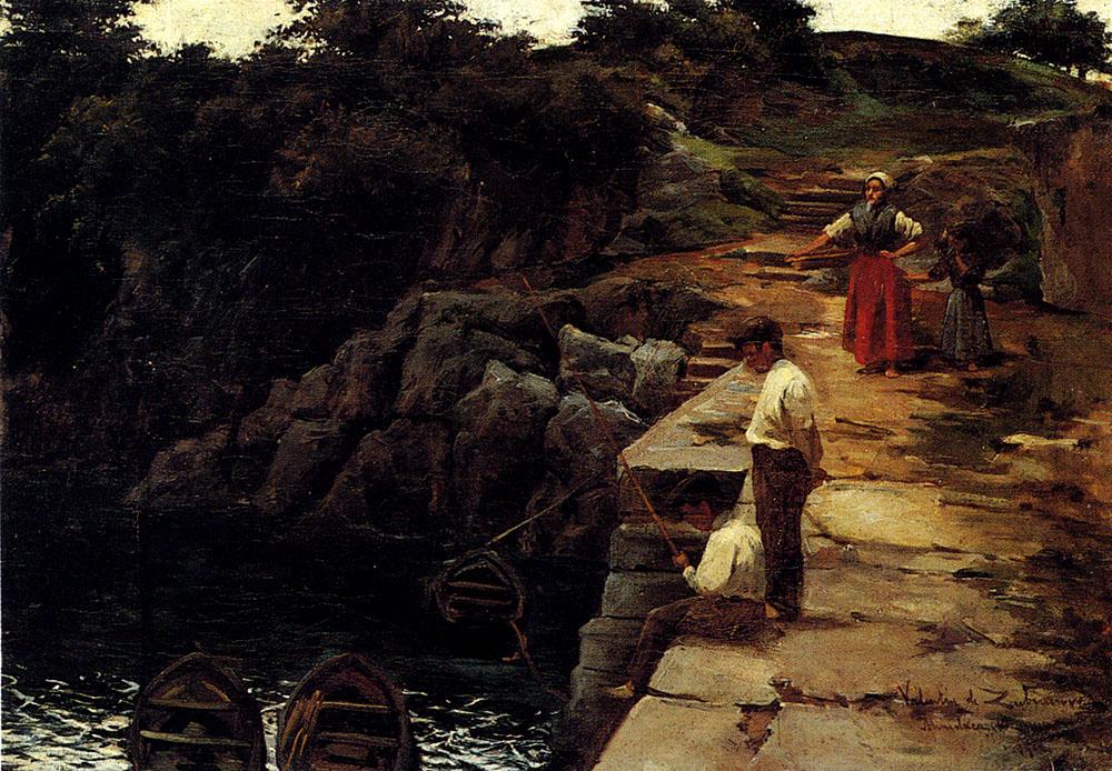 Boys Fishing by Valentin de Zubiaurre