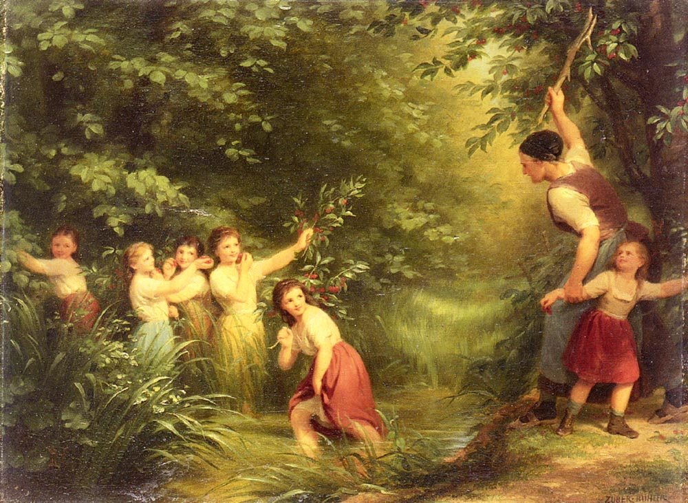The Cherry Thieves by Fritz Zuber-Buhler