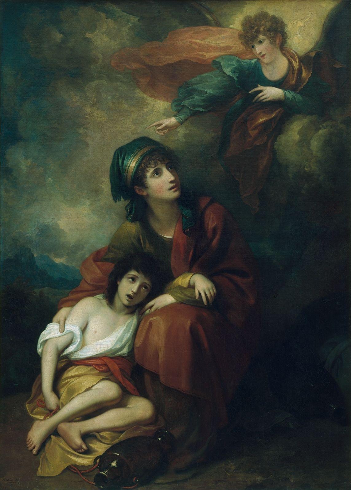 Hagar and Ishmael by Benjamin West