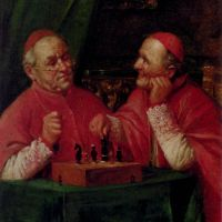 A Chess Game by Franz Xaver Wolf