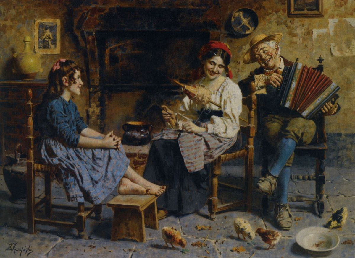 A Musical Serenade by Eugenio Zampighi