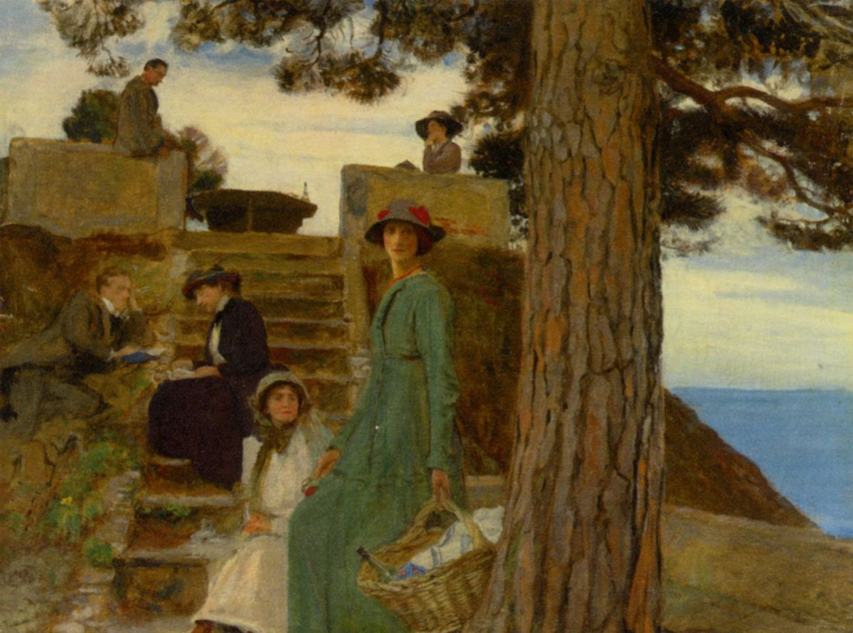 A Picnic at Portofino 1911 by George Spencer Watson